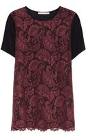 Jason Wu Wenetia Silk Crepe De Chine and Lace Top - Lyst