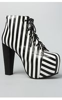Jeffrey Campbell The Lita Shoe in Black and White Stripe - Lyst