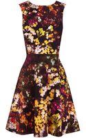 Karen Millen Blossom Print Dress - Lyst