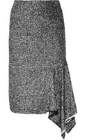 Michael Kors Asymmetric Tweed Skirt - Lyst