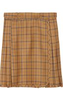 See By Chloé Plaid Wool and Cotton Blend Mini Skirt - Lyst