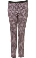 Topshop Tile Print Skinny Trousers - Lyst
