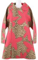 Comme Des Garçons Two Dimension Wool and Rayon Felt Aline Coat with A Leopard Star Pattern - Lyst