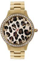 Betsey Johnson Womens Gold Tone Stainless Steel Bracelet 40mm 08 - Lyst