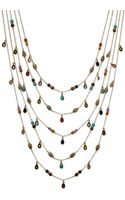 Lauren by Ralph Lauren 14k Gold Plated Multibead Fiverow Necklace - Lyst