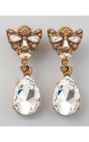 Oscar de la Renta Crystal Panther Clip Earrings - Lyst
