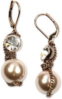 Givenchy  Imitation Pearl Crystal Drop Earrings - Lyst