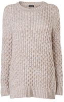 Jaeger Cable Detail Sweater - Lyst