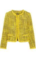 Alice + Olivia Fringe-trimmed Tweed Jacket - Lyst