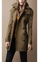Burberry Brit Midlength Wool Blend Hooded Trench Coat - Lyst