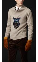 Burberry Prorsum Owl Detail Cashmere Sweater - Lyst
