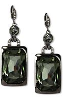Givenchy Light Hematite Tone Crystal Stone Drop Earrings - Lyst