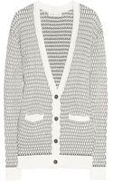 Jonathan Saunders Textured knit Cotton Cardigan - Lyst