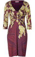 Matthew Williamson Berryjade Printed Draped Jersey Dress - Lyst