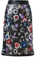 Christopher Kane Embroidered Chainmail Pencil Skirt - Lyst