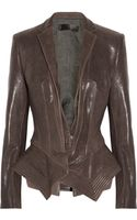 Haider Ackermann Leather Peplum Jacket - Lyst