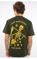 Obey The Dead Mans Hand Basic Tee in Hunter Green - Lyst