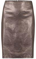 AllSaints Metal Pencil Skirt - Lyst