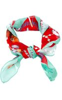 DSquared2 Printed Silk Scarf - Lyst