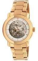 Kenneth Cole Womens Automatic Rose Gold Plated Stainless Steel Watch - Lyst