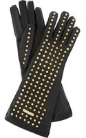 Burberry Prorsum Studded Leather Gloves - Lyst