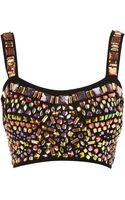 Topshop Jewel Bralet Top - Lyst