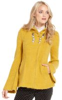 Free People Longsleeve Buttoned Woolblend Textured Jacket - Lyst