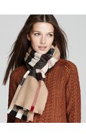 Burberry Burberry Patchwork Tweed Cashmere Wool Scarf - Lyst