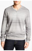Hickey Freeman Herringbone Vneck Sweater - Lyst