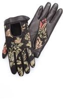 Rag & Bone Chevron Quilted Driving Gloves - Lyst