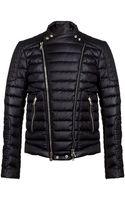 Balmain Nylon Biker Jacket - Lyst