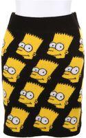 Jeremy Scott Wool Knit Mini Skirt - Lyst