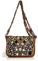 Antik Batik Camel Leather Embellished Crossbody Bag - Lyst