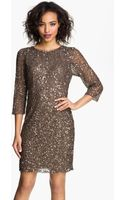 Pisarro Nights Cowl Back Sequin Bead Dress - Lyst