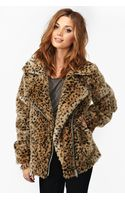 Nasty Gal Donna Leopard Coat - Lyst