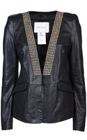 Pierre Balmain Leather Jacket - Lyst