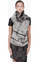 Helmut Lang Grey Rabbit Fur Vest - Lyst