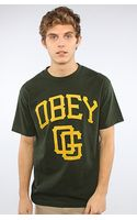 Obey The Gigantes Basic Tee in Hunter Green - Lyst