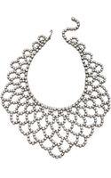 Kenneth Jay Lane Crystal Lace Bib Necklace Silvercrystal - Lyst