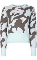Acne Studios Lia Camo Sweater - Lyst