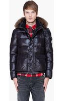 Moncler Black Coyote Fur Hood Hubert Jacket - Lyst