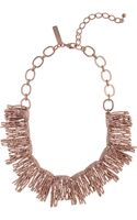 Oscar de la Renta Rose Gold-Plated Necklace - Lyst