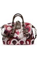 Coach Madison Graphic Op Art Metallic Juliette - Lyst