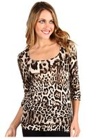 Just Cavalli Leopard Print Scoop Top - Lyst