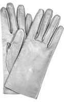 Saint Laurent Metallic Leather Gloves - Lyst