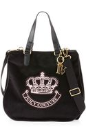 Juicy Couture Victoria Velour Tote Bag Black - Lyst