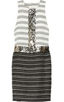 By Malene Birger Rasminel Embellished Striped Tweed Dress - Lyst