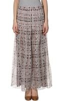 Theyskens' Theory Long Skirt - Lyst
