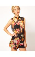 ASOS Collection Asos Playsuit in Floral Print - Lyst