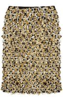 Marni Embellished Silk and Woolblend Skirt - Lyst